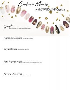 Swarovski Crystals Flyer With Pricing